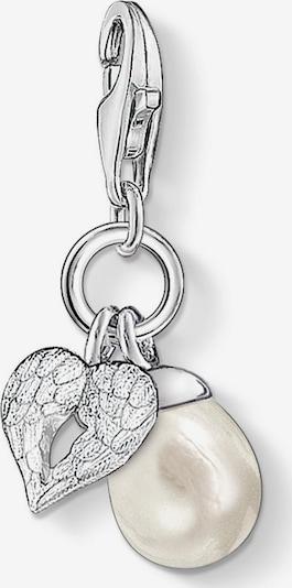 Thomas Sabo Thomas Sabo Damen-Charm 925er Silber ' ' in silber / perlweiß, Produktansicht