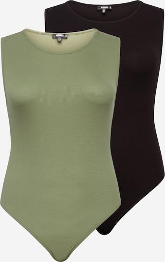 Missguided Plus Tričkové body - olivová / černá, Produkt