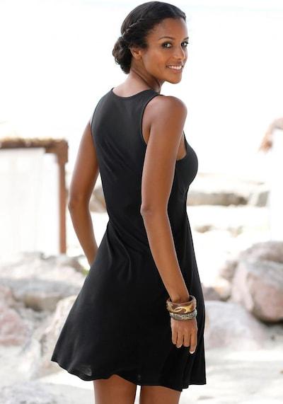LASCANA Strandkleid in schwarz, Modelansicht