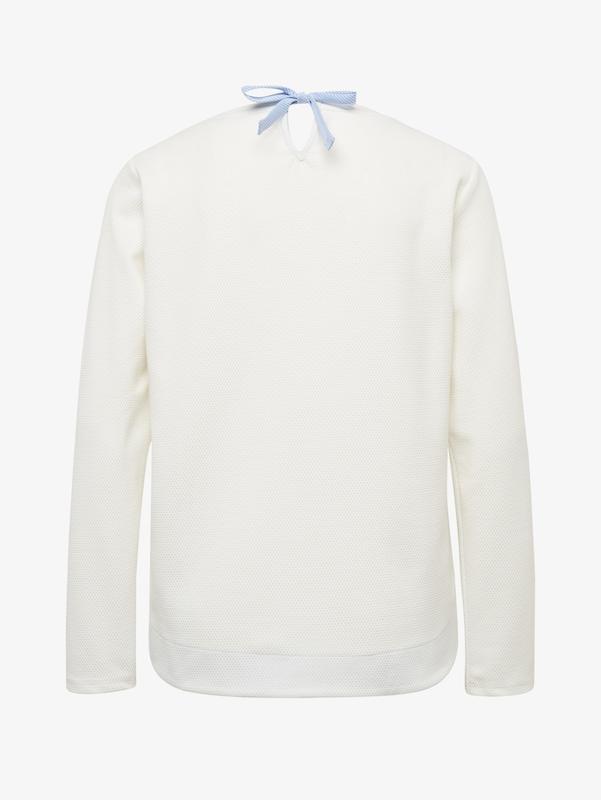 shirt Sweat FuméBlanc Cassé Tom Tailor En Bleu ZOkXiuPwT