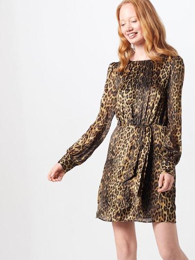 The Kooples Kleid 'ROBE' in gold / schwarz, Modelansicht