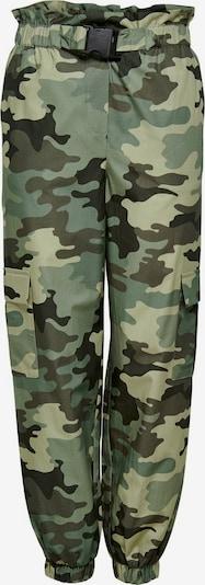 ONLY Pantalon cargo en vert / kaki, Vue avec produit