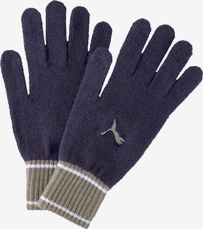 PUMA Fingerhandschuhe in ecru / navy / weiß, Produktansicht