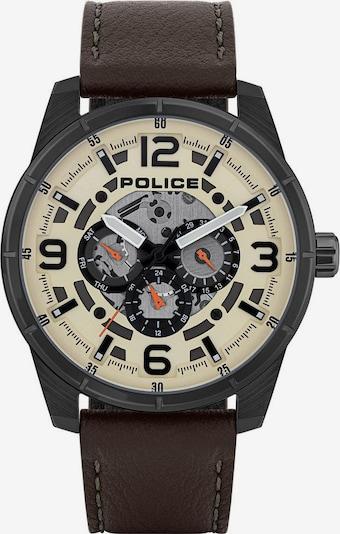 POLICE Quarzuhr 'Lawrencer PL15663JSU.14' in dunkelbraun / hellgelb / dunkelorange / schwarz, Produktansicht