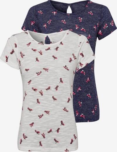 VIVANCE T-Shirt in navy / weiß, Produktansicht
