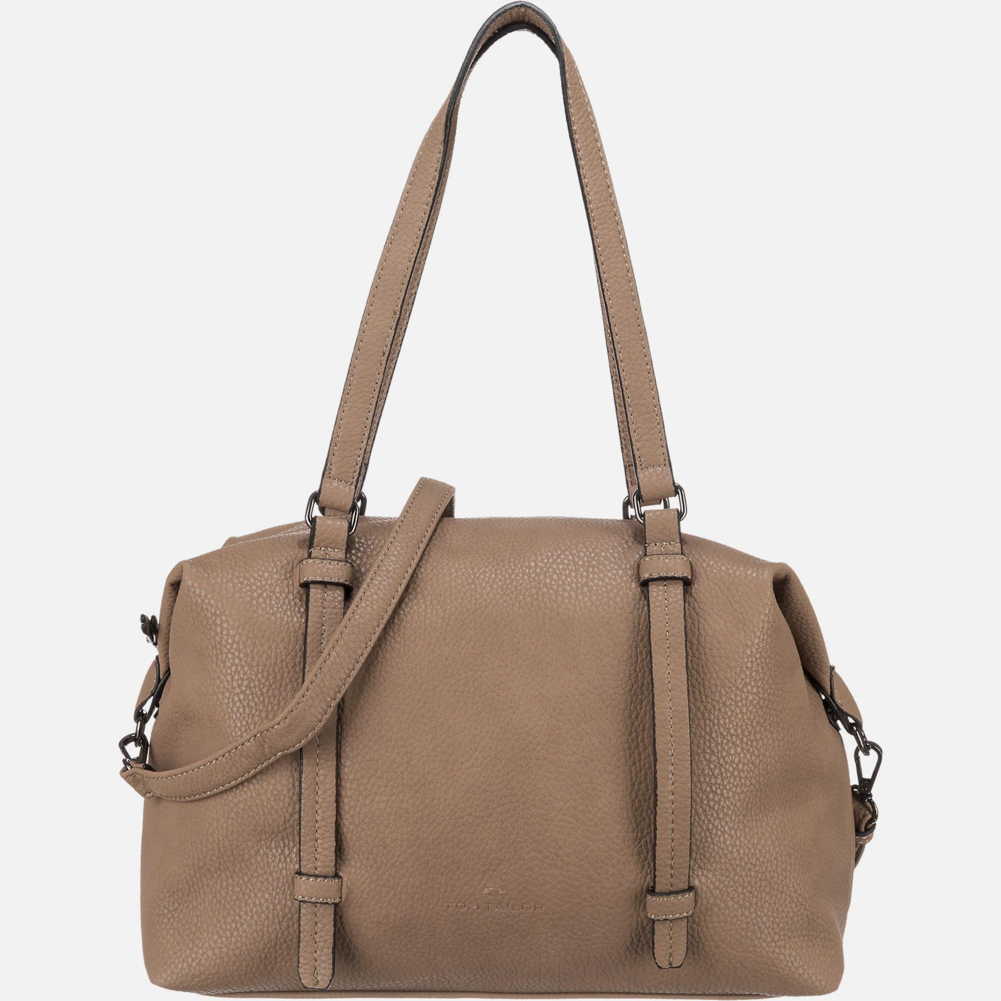 tom tailor 39 ester 39 handtasche in beige about you. Black Bedroom Furniture Sets. Home Design Ideas