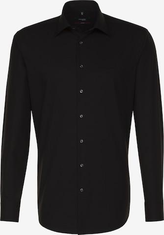 SEIDENSTICKER Hemd 'Modern' in Schwarz
