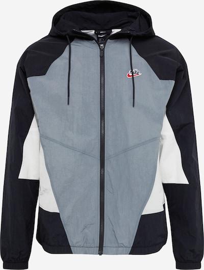 NIKE Veste de sport 'Windrunner' en gris foncé / noir, Vue avec produit