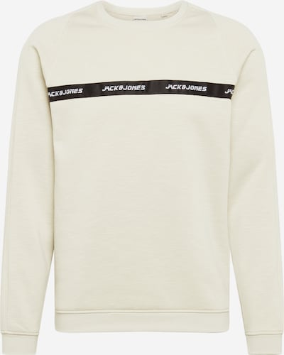 JACK & JONES Sweatshirt 'Train' in creme / schwarz, Produktansicht