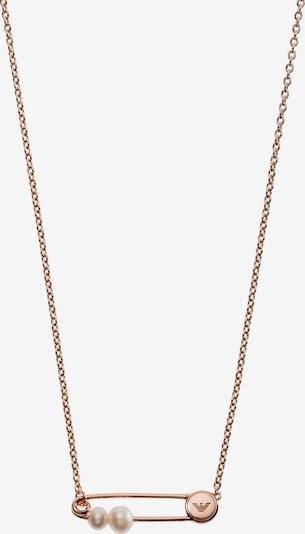 Emporio Armani Kette in rosegold / perlweiß, Produktansicht