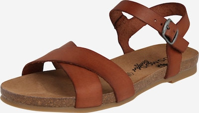 COSMOS COMFORT Sandały z rzemykami w kolorze kasztanowym, Podgląd produktu