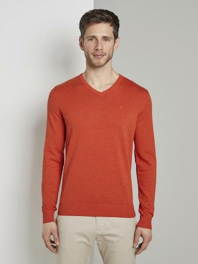 TOM TAILOR Pullover & Strickjacken Strickpullover mit V-Ausschnitt in orange, Produktansicht