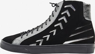 Usha Baskets hautes en gris / noir: Vue de face
