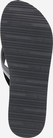 TOMMY HILFIGER Zehentrenner 'MELLIE 13' in rauchgrau / schwarz / weiß: Ansicht von unten