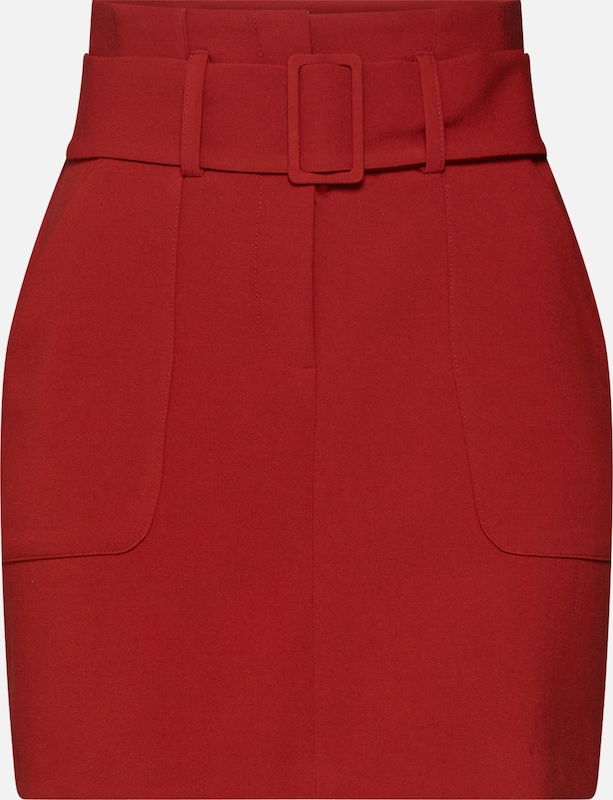 NEW LOOK Rok 'T COVERED BUCKLE UTILITY SKIRT' in de kleur Roestrood, Productweergave
