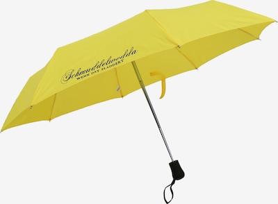 Schmuddelwedda Regenschirm in gelb / schwarz: Frontalansicht