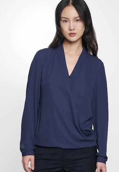 SEIDENSTICKER Bluse 'Schwarze Rose' in ultramarinblau, Modelansicht