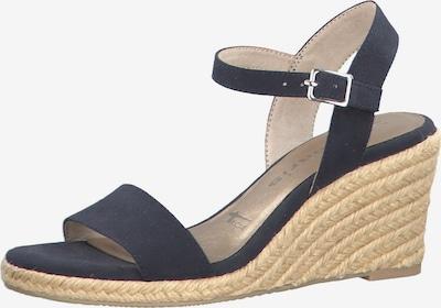 TAMARIS Sandale in beige / navy, Produktansicht