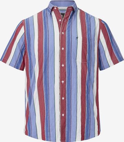 Jan Vanderstorm Kurzarmhemd 'Germo' in blau / rot / weiß, Produktansicht