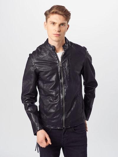 tigha Lederjacke 'Wesney' in schwarz, Modelansicht