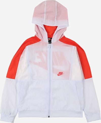 Nike Sportswear Prehodna jakna | rdeča / bela barva, Prikaz izdelka