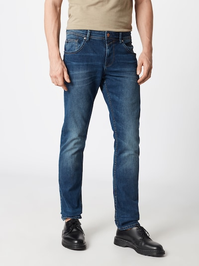 TOM TAILOR DENIM Jeans 'slim AEDAN blue denim Denim Long 1/1' in blue denim, Modelansicht