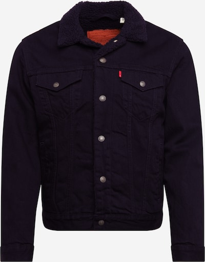 LEVI'S Between-season jacket 'TYPE 3 SHERPA TRUCKER' in black denim, Item view
