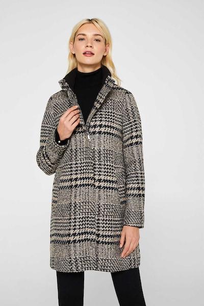 ESPRIT Mantel in hellbeige / grau / schwarz, Modelansicht