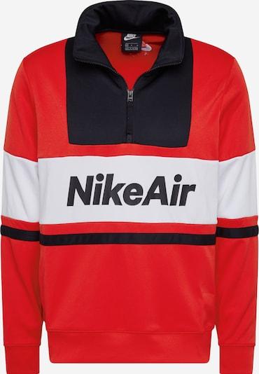 Nike Sportswear Bluzka sportowa 'Nike Air' w kolorze czerwony / czarny / białym, Podgląd produktu