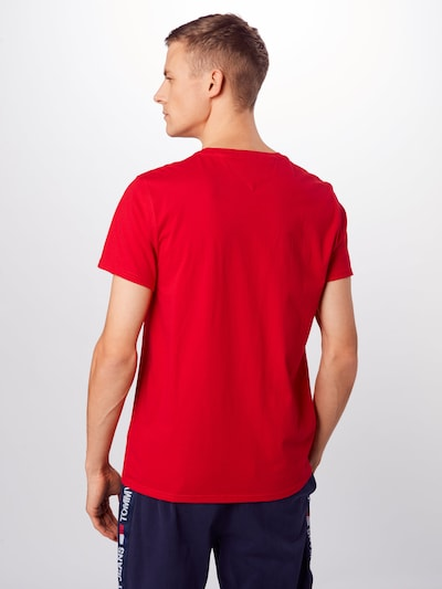 Tommy Jeans T-Shirt 'ESSENTIAL' in rot: Rückansicht