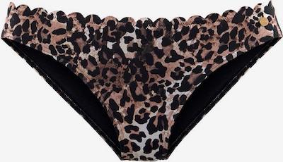 LASCANA Bikinihose 'Lexa' in braun / hellbraun / schwarz, Produktansicht