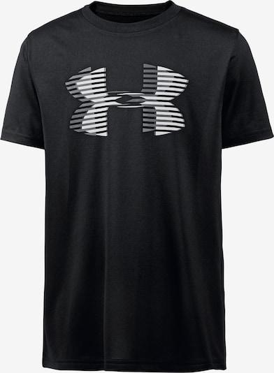 UNDER ARMOUR Funktionsshirt in grau / schwarz / weiß, Produktansicht