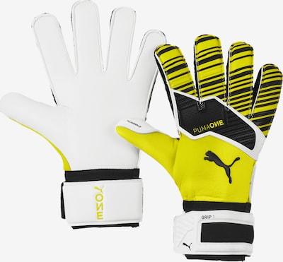 PUMA Handschuhe 'ONE Grip 1 RC' in gelb / schwarz / weiß, Produktansicht
