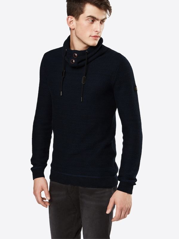 EDC BY ESPRIT Pullover 'struct funnel'