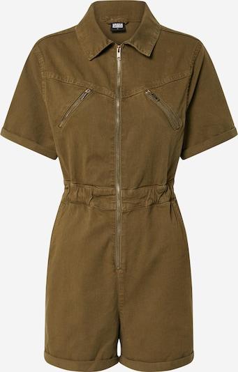 Urban Classics Combinaison 'Ladies Short Boiler Suit' en olive, Vue avec produit