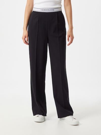 Calvin Klein Jeans Pantalon in de kleur Zwart / Wit, Modelweergave