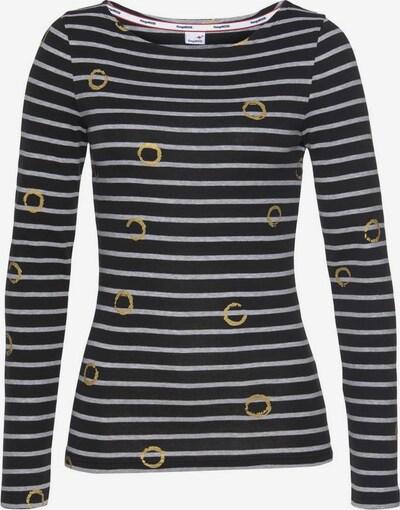 KangaROOS Langarmshirt in grau / schwarz, Produktansicht