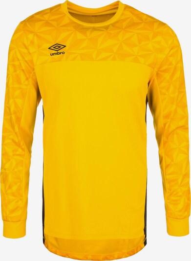 UMBRO Torwarttrikot 'Portero' in gelb / goldgelb / schwarz, Produktansicht