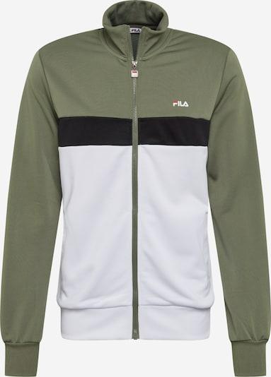 FILA Kurtka przejściowa 'SANGA' w kolorze zielony / czarny / białym, Podgląd produktu