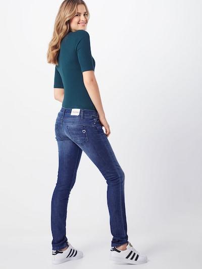 PLEASE Jeans in blue denim: Rückansicht
