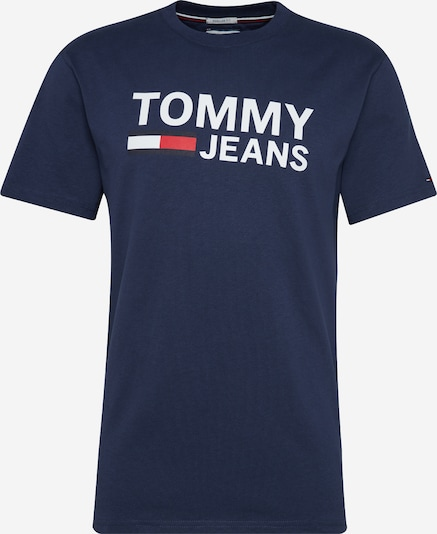 Tommy Jeans Shirt in de kleur Donkerblauw / Rood / Wit, Productweergave
