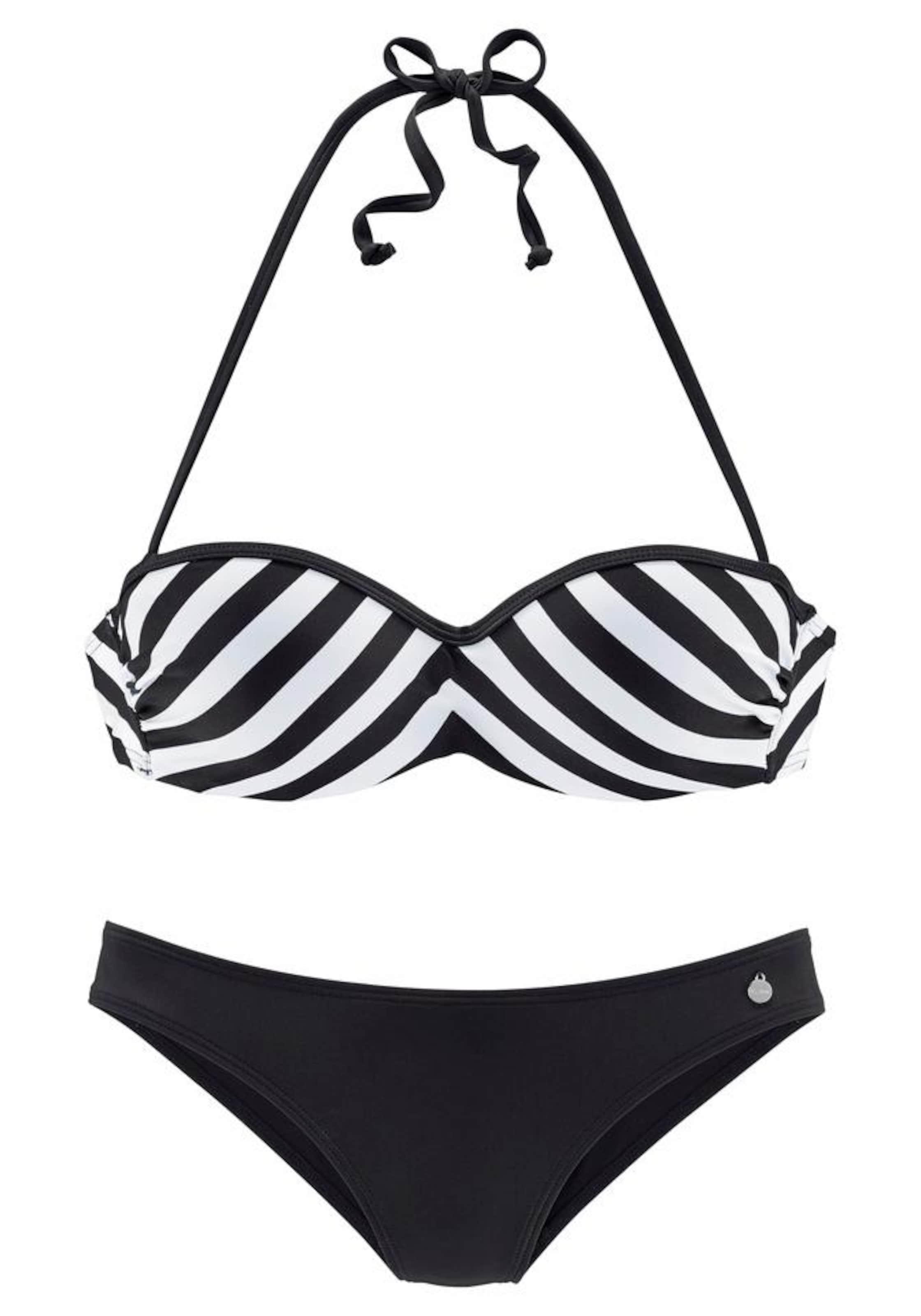 In In 'flic' Lascana Bikini Lascana SchwarzWeiß Lascana SchwarzWeiß 'flic' In Bikini Bikini 'flic' vOm08Nnw