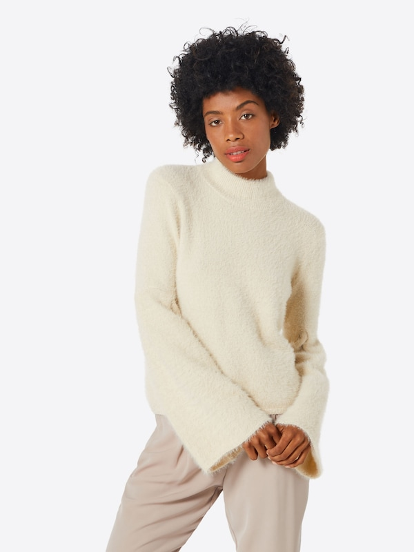 Fashion Union Pullover 'FENNEL' in creme: Frontalansicht