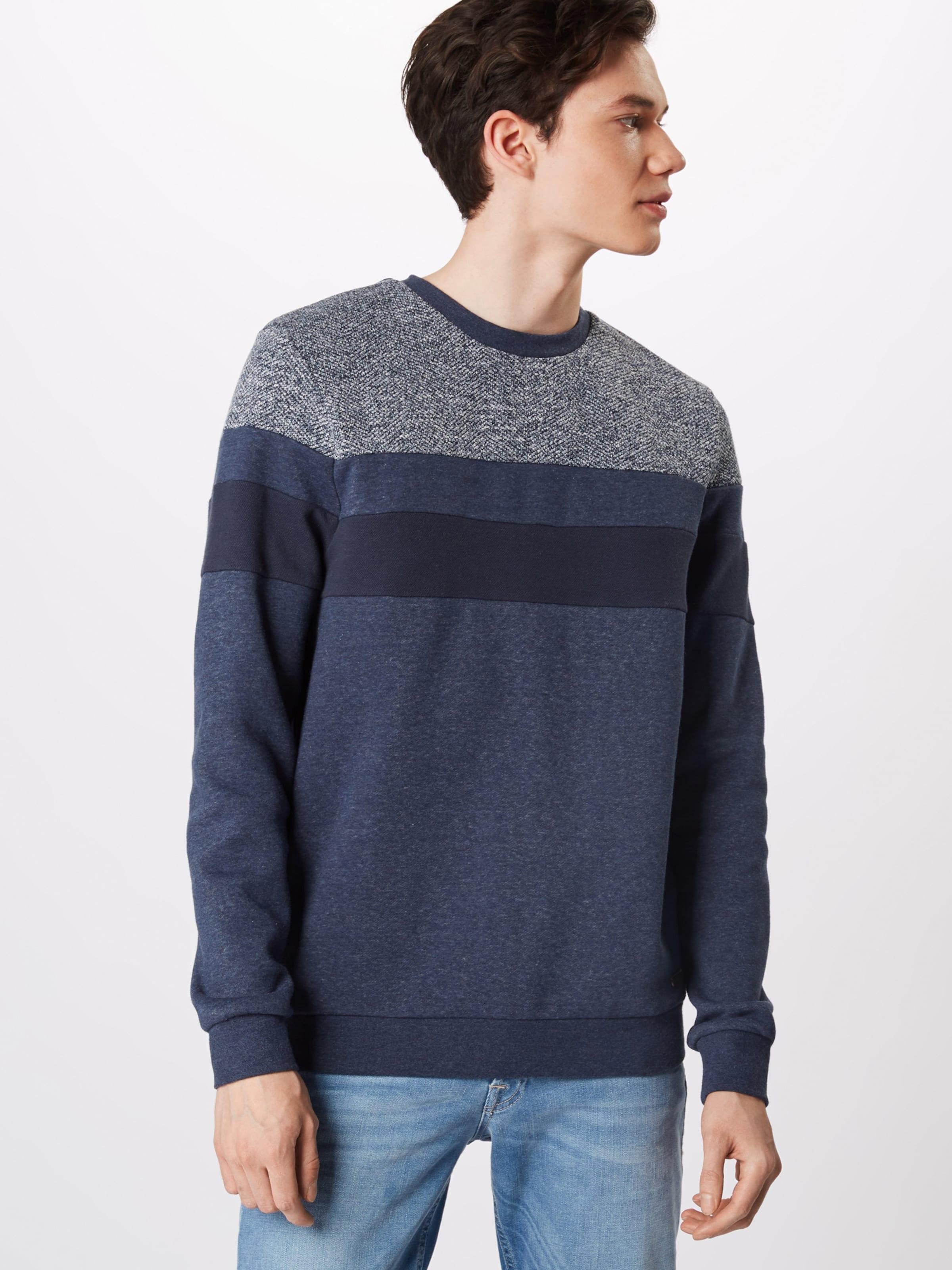 'fabric Sweatshirt By In Mix' Esprit Navy Edc PkuZTiOX