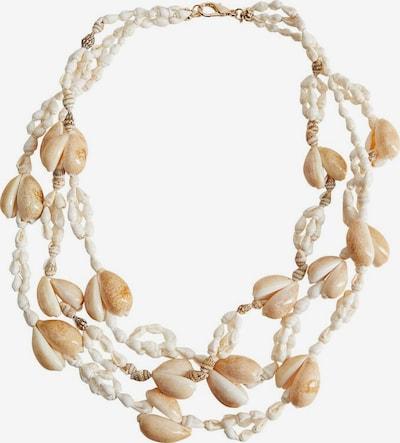 MANGO Halskette 'Concha' in beige / weiß, Produktansicht