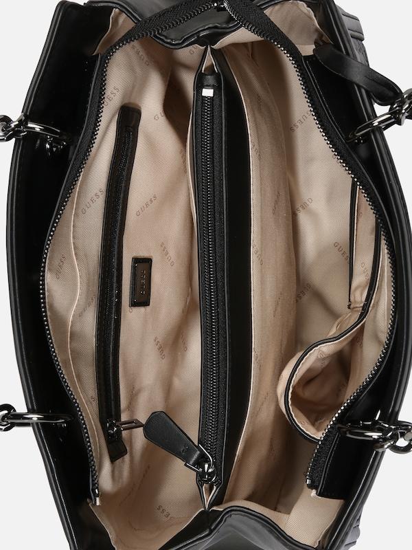 GUESS Torebka 'New Wave Luxury Satchel' w kolorze czarnym