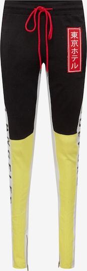 Magdeburg - Los Angeles Pantalon 'Track Pants MDLA' en jaune / noir / blanc, Vue avec produit