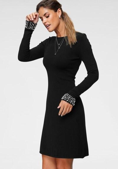 BRUNO BANANI Strickkleid in schwarz / perlweiß, Modelansicht
