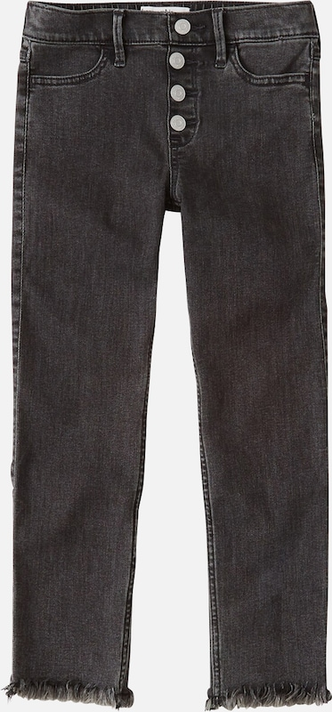 Abercrombie & Fitch Jeans '(F-E123567) XM19-N1 HOL HR PO ANKLE SKNY 2CC' in black denim, Produktansicht