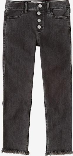 Abercrombie & Fitch Kavbojke '(F-E123567) XM19-N1 HOL HR PO ANKLE SKNY 2CC' | črn denim barva: Frontalni pogled
